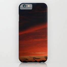 Sunset in Red iPhone Case