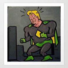 aged hero Art Print