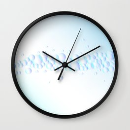 Air Bubbles On Water Wall Clock