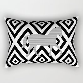 Horse - Abstract geometric pattern - gray, black and white. Rectangular Pillow