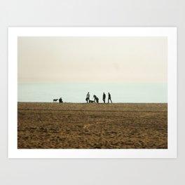 Pup Beach Art Print