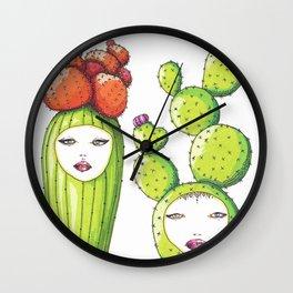 Succulent Ladies Wall Clock