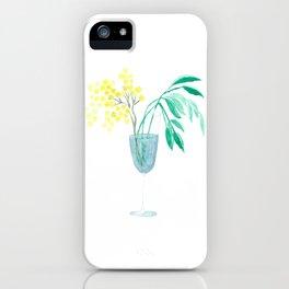 Winter mimosa iPhone Case