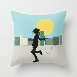 Spring in the city Throw Pillow