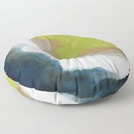 Surf Abstraction Floor Pillow