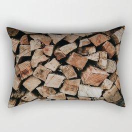 Chopped Firewood Stack Rectangular Pillow
