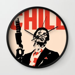NO CHILL Vintage Pop Culture Wall Clock