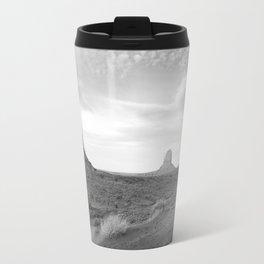 Black and White Monument Valley Travel Mug