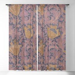 "William Morris ""Anemone"" 4. Sheer Curtain"