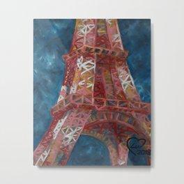 Eiffel Tower by Lu Metal Print