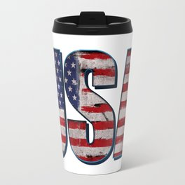 USA flag vintage Travel Mug