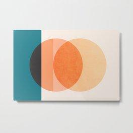 Abstraction_NEW_SUNSET_OCEAN_WAVE_POP_ART_Minimalism_0022D Metal Print