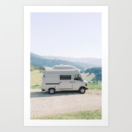 Vanlife in Europe - Camper van Black Forest view in Germany | Travel camping photography photo print Art Print