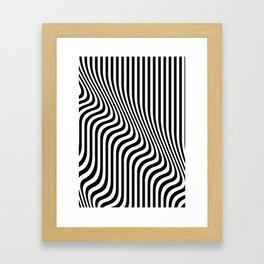 Optical Art - Blac kand White - Monochrome - Liquid  - art, interior, drawing, decor, design, bauhau Framed Art Print