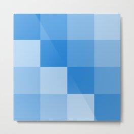 Four Shades of Light Blue Square Metal Print