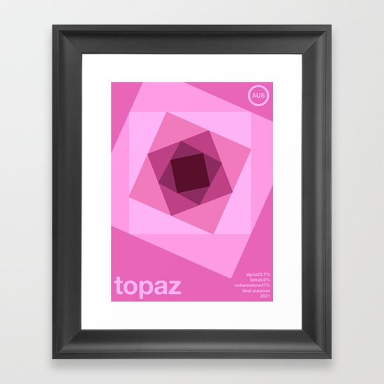 topaz single hop Framed Art Print