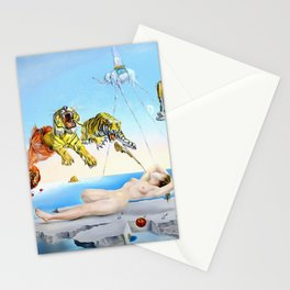 Salvador Dalí, Dream Caused by the Flight of a Bee Around a Pomegranate a Second Before Awakening 1944 Stationery Cards