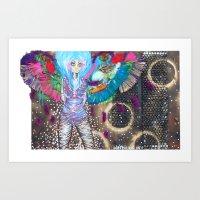 Quiet Parrot Art Print