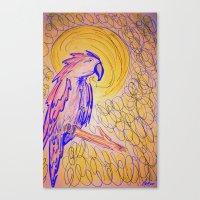 parrot Canvas Prints featuring PARROT  by MAGIC DUST