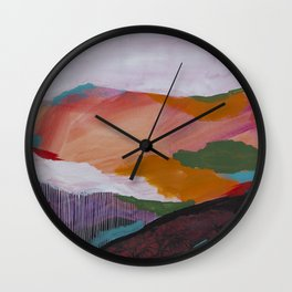 Roses Aren't Red 3 - Contemporary Abstract Landscape Wall Clock