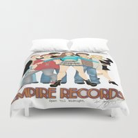 records Duvet Covers featuring Empire Records  by Maritza Lugo