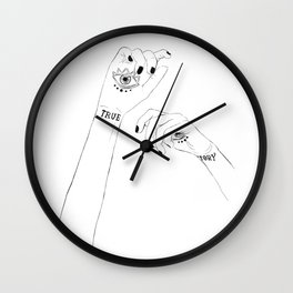 True Story - Daughter of smoke and bone.Laini Taylor Wall Clock