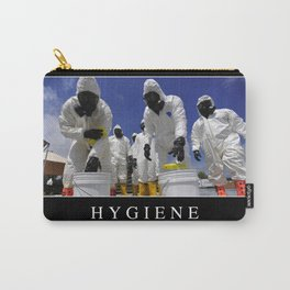 Hygiene: Inspirational Quote and Motivational Poster Carry-All Pouch