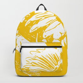 sunflower can yellow gold Backpack