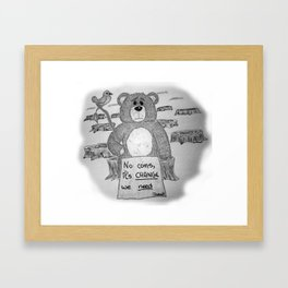 Sad bear 2 Framed Art Print