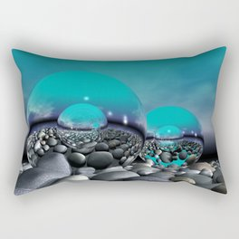 refraction of light - turquoise Rectangular Pillow