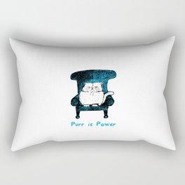 Purr is Power  (Blue) Rectangular Pillow