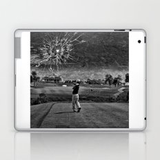 Broken Glass Sky - Black and White Version Laptop & iPad Skin