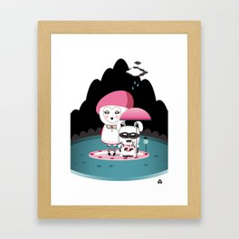 Super Tofu Boy and Sweet Sweet Tofu Framed Art Print