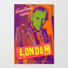 Greetings From London Canvas Print