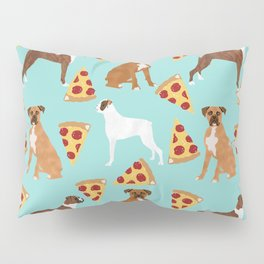 boxer pizza dog lover pet gifts cute boxers pure breeds Pillow Sham