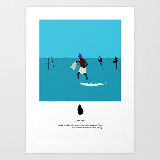 Sri Lankan fishermen 3 Art Print