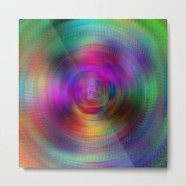 Radial Rainbow Metal Print