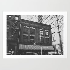 B&W Architecture - Portland, OR Art Print