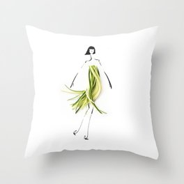 Edible Ensembles: Zuccini Throw Pillow