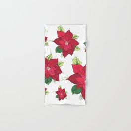 Christmas Poinsettia Hand & Bath Towel