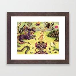 psychedelic bath Framed Art Print