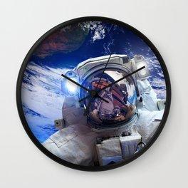 Astronaut in orbit #4 Wall Clock