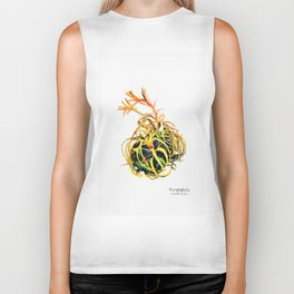 Tillandsia Xerographica Air Plant Watercolor Biker Tank