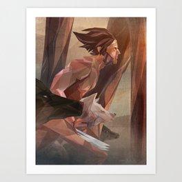 Runs With Wolves Art Print