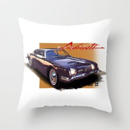 1963 Avanti Throw Pillow