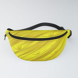 yellow abstract pattern in metal Fanny Pack