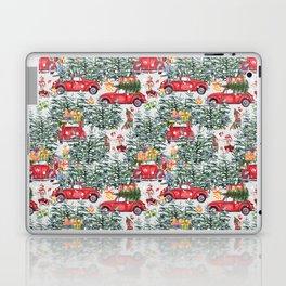 Dachshund decorates the christmas tree Laptop & iPad Skin