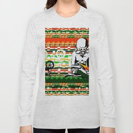 Ghandi and his Spinning Wheel Long Sleeve T-shirt