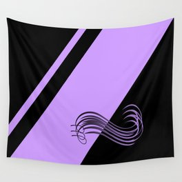 Purple Black Wall Tapestry