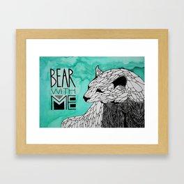Bear With Me. Framed Art Print